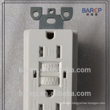 CUL listed GFCI receptacle NEMA5-15 Barep with tamper wall outlet
